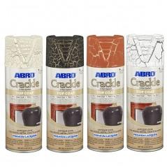 Abro Decorative Spray Paint (Crackle Premium Lacquer Spray Paint) TOP COAT Part 2