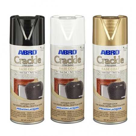 Abro Decorative Spray Paint (Crackle Premium Lacquer Spray Paint) BASE COAT Part 1
