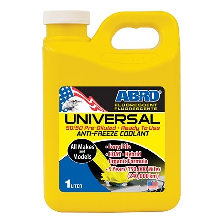 Abro Long Life Coolant 50/50 Yellow