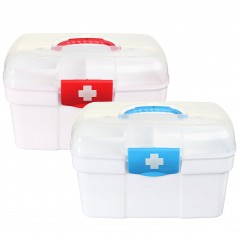 Double Layer Plastic Medicine Storage Box (Chest)