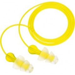 3M E-A-R Tri-Flange Cotton Cord Earplugs