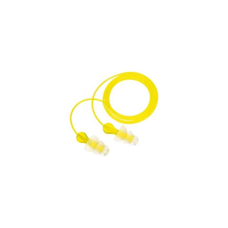 3M E-A-R Tri-Flange Cotton Cord Earplugs
