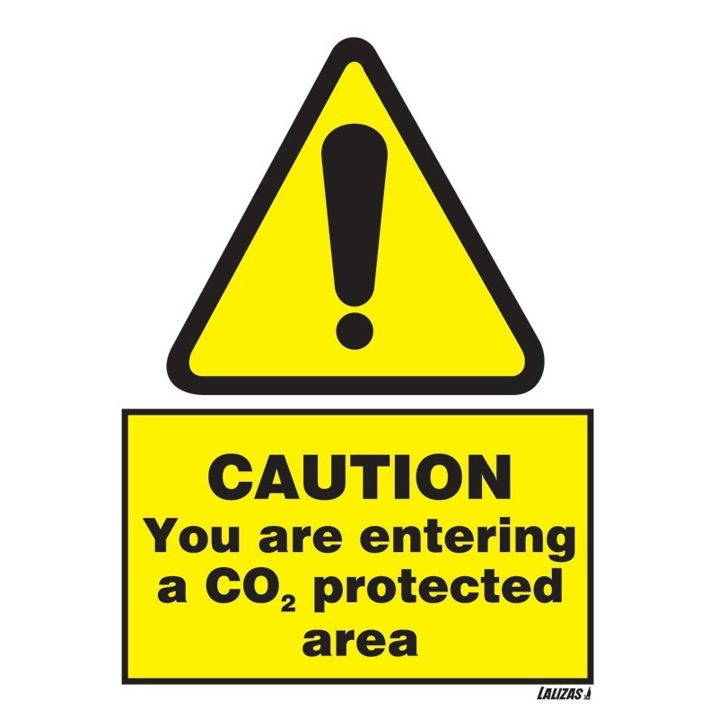 Buy your Caution Co2 Protected Area sign online at Safety Nigeria - Warns that there is a Co2 Protected Area sign