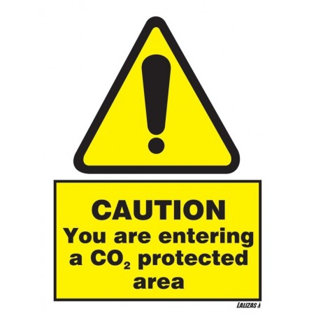 Imo - Caution - Co2 Protected Area sign