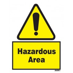 Buy your Hazardous Area Signs online at safety nigeria - Warn visitors and employees of potential hazards in and around the work