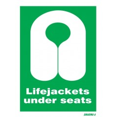 Order for your Lifejackets Under Seats Signs in nigeria | Looking for where to buy Life Jackets Under Seats Signs