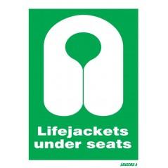 Lifejackets Under Seats Signs