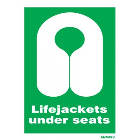 Order for your Lifejackets Under Seats Signs in nigeria   Looking for where to buy Life Jackets Under Seats Signs