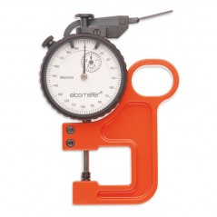 Elcometer 124 Thickness Gauge is used to measure the peak-to-valley height of a surface profile moulded in the Elcometer 122 Tes