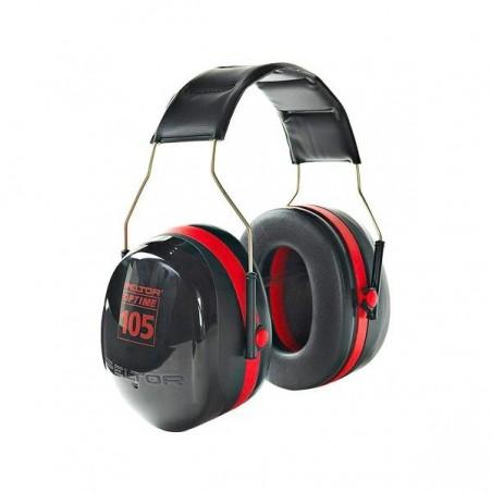 3M PELTOR Optime 105 Earmuffs H10A, Over-the-Head