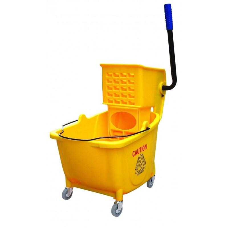 36L Industrial Mop Bucket Yellow