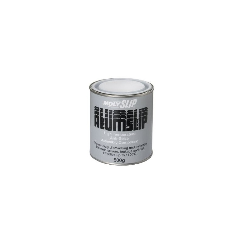 Molyslip ALUMSLIP is a high-temperature, anti-seize compound formulated to protect fasteners from seizure induced by extremes of