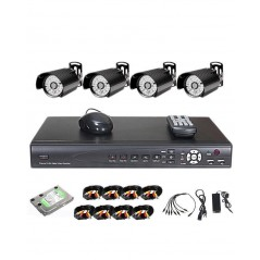 Anspo 4 Channels CCTV Combo Kit Security Recording System