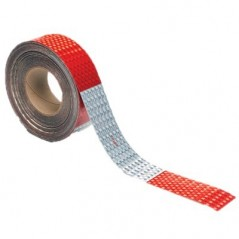 Stimsonite Reflective Red & White Vehicle Conspicuity Tape