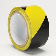 Vinyl Adhesive-Backed Marking Tape with Warning Stripes