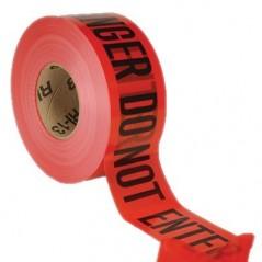 """3 Mil Red Barrier Tape, 3"""" x 1,000' – Danger Do Not Enter"""