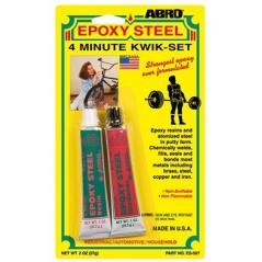 Abro Epoxy Steel 4 Minute Kwik-Set