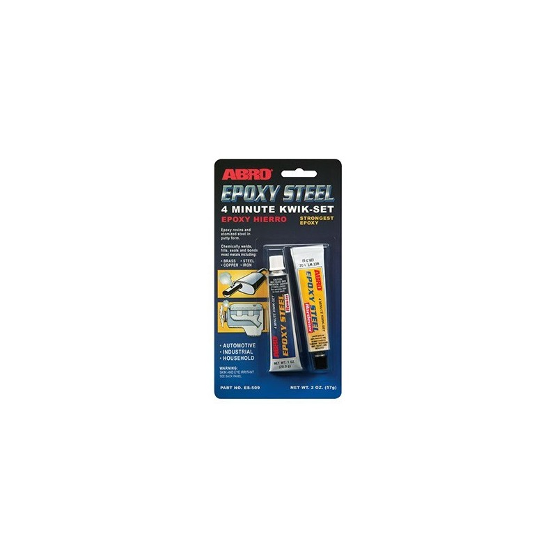 Abro Epoxy Steel 4 Minute Kwik-Set Automotive Grade