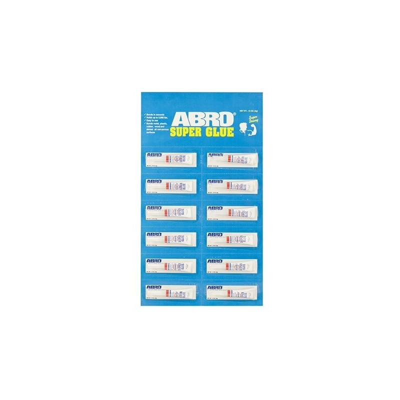 Abro Super Glue Hanging Display