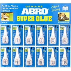 Abro Super Glue Bottles Hanging Display