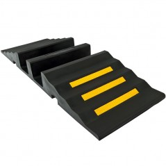 "Hose Protector Ramp with dual 3-3/4""D hose channels - 20,000 lb. capacity per axle"