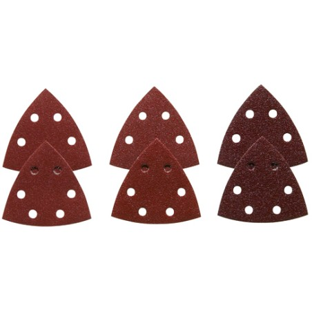 Bosch 3-1/2 Inc. Assorted Grits 6 pcs. Red Detail Sander Abrasive Triangles for Wood