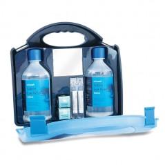 Reliance Saline Double Eye Wash Station in Blue Integral Aura Box