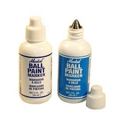 MARKAL Ball Paint Marker - Metal Tip 3 Mm, Plastic Bottle - Piecewise