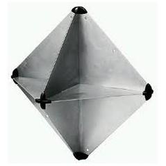 Folding Tetrahedral Radar Reflector RORC 340 x 340mm