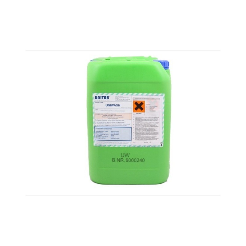 Wilhelmsen Uni-Wash 25 ltr Chemical is the best chemical for stain and oil removal, we sell at competitive price in Industries S