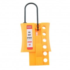 Insulated Lockout Slider Hasp - 4 Holes