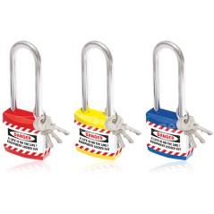 Jacket PadLock - Lockout Lock with Long Shackle - Set of 3