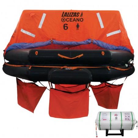 Lalizas Liferaft SOLAS OCEANO, Throw Over-board | 6, 8, 10, 12, 16, 20, 25, 30, 35 Persons