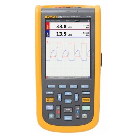 Fluke 123B Industrial ScopeMeter Hand-Held Oscilloscope, 2 Channel, 20MHz