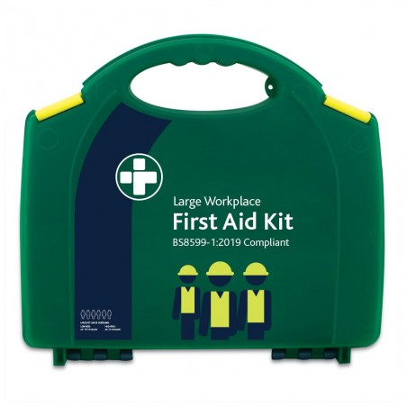 Reliance BS8599-1:2019 Large Workplace First Aid Kit in Green Integral Aura Box