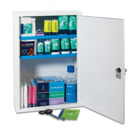 Reliance BS8599-1:2019 Medium Workplace Plus First Aid Kit in Sofia Metal Cabinet