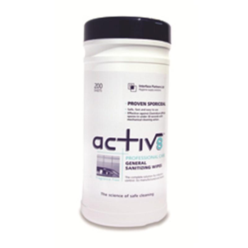 Activ8 Sanitising Wipes