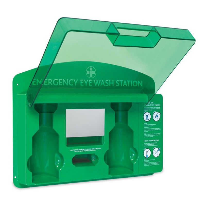 Reliance Premier Eye Wash Station Green - Clear Lid - Empty