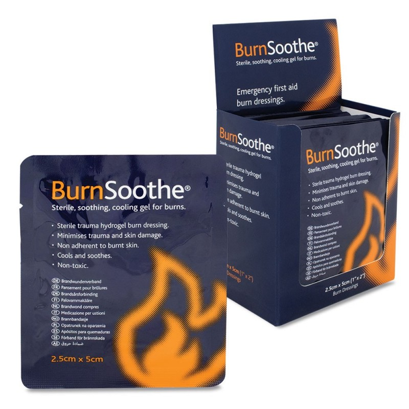 Reliance BurnSoothe 2.5cm x 5cm Burn Dressings emergency first aid burn dressing, relieves pain, cools & comforts in times of fi