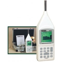 Extech 407790A: Real Time Octave Band Analyzer - Type 2 integrating sound level meter with Octave and Band real time display