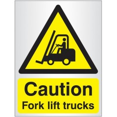 Buy your Caution Fork Lift Truck Signs online with Safety Nigeria - Identify and warn visitors and staff of possible hazards whe