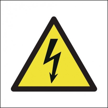Buy your Electricity Symbol On White Signs online with Seton  | Perfect for marking electrical danger areas - Buy safety signs f