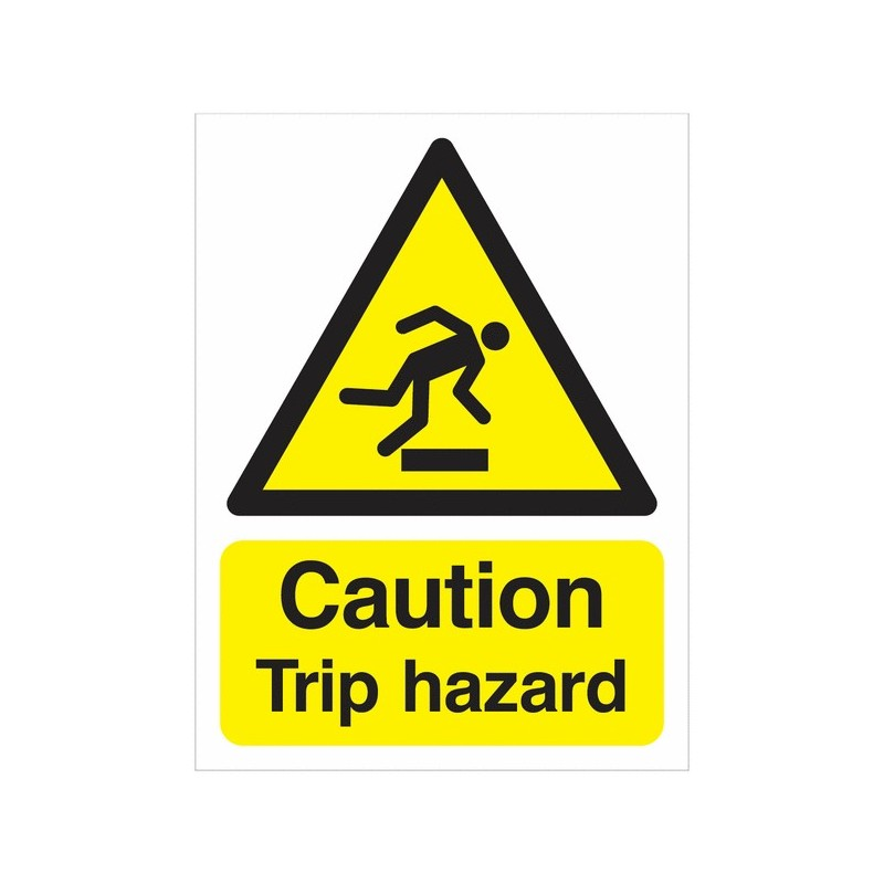 Buy your Caution Trip Hazard Signs online with supplier of Safety in  nigeria | Warn visitors and employees of potential trip ha