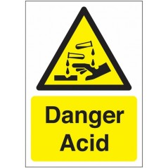Buy your Danger Acid Signs online with Safety Nigeria - Warn visitors and employees of potential acid hazards in and around the