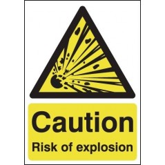 Caution Risk Of Explosion Signs