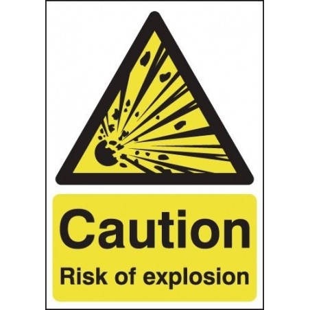 Buy your Caution Risk Of Explosion Signs online with Safety nigeria -  Warn visitors and employees of potential explosive hazard