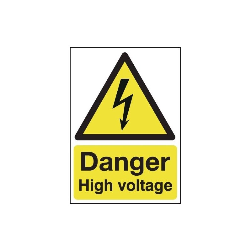 Buy your Danger High Voltage Signs online with Safety Nigeria - Warn visitors and employees of potential electrical hazards in a