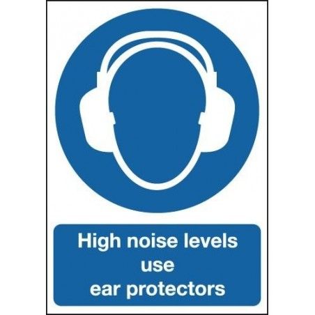 Buy your High Noise Levels Use Ear Protectors Sign online with Safety Nigeria | Give clear instruction on use of ear protectors,
