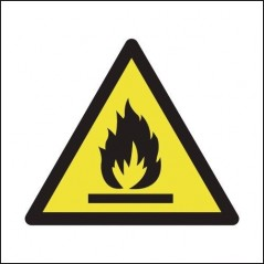 Flammable Symbol Signs