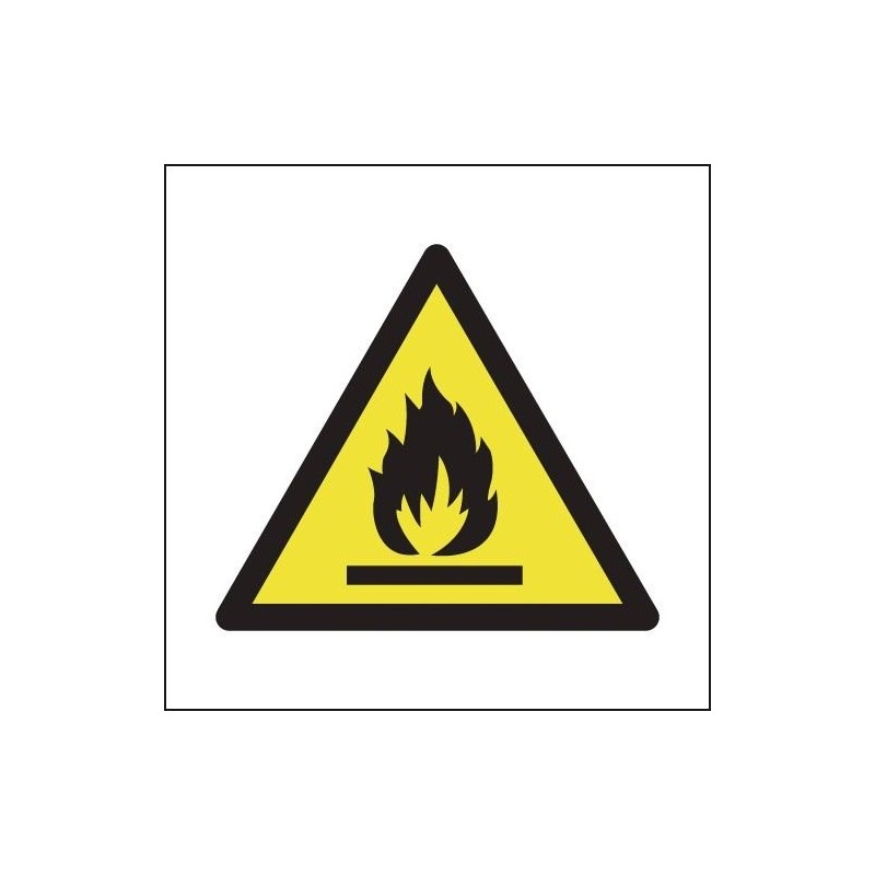 Buy Flammable Symbol Signs online - Warn visitors and employees of potential explosive hazards in & around the workplace   Flamm